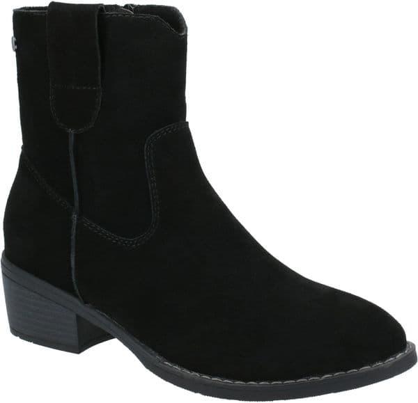 Hush Puppies Iva Ladies Ankle Boots Black